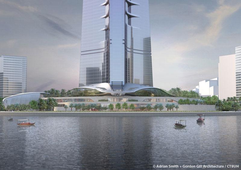sky mile tower height, azerbaijan tower height, dubai creek tower opened,